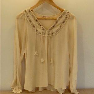 Rebecca Taylor silk peasant blouse
